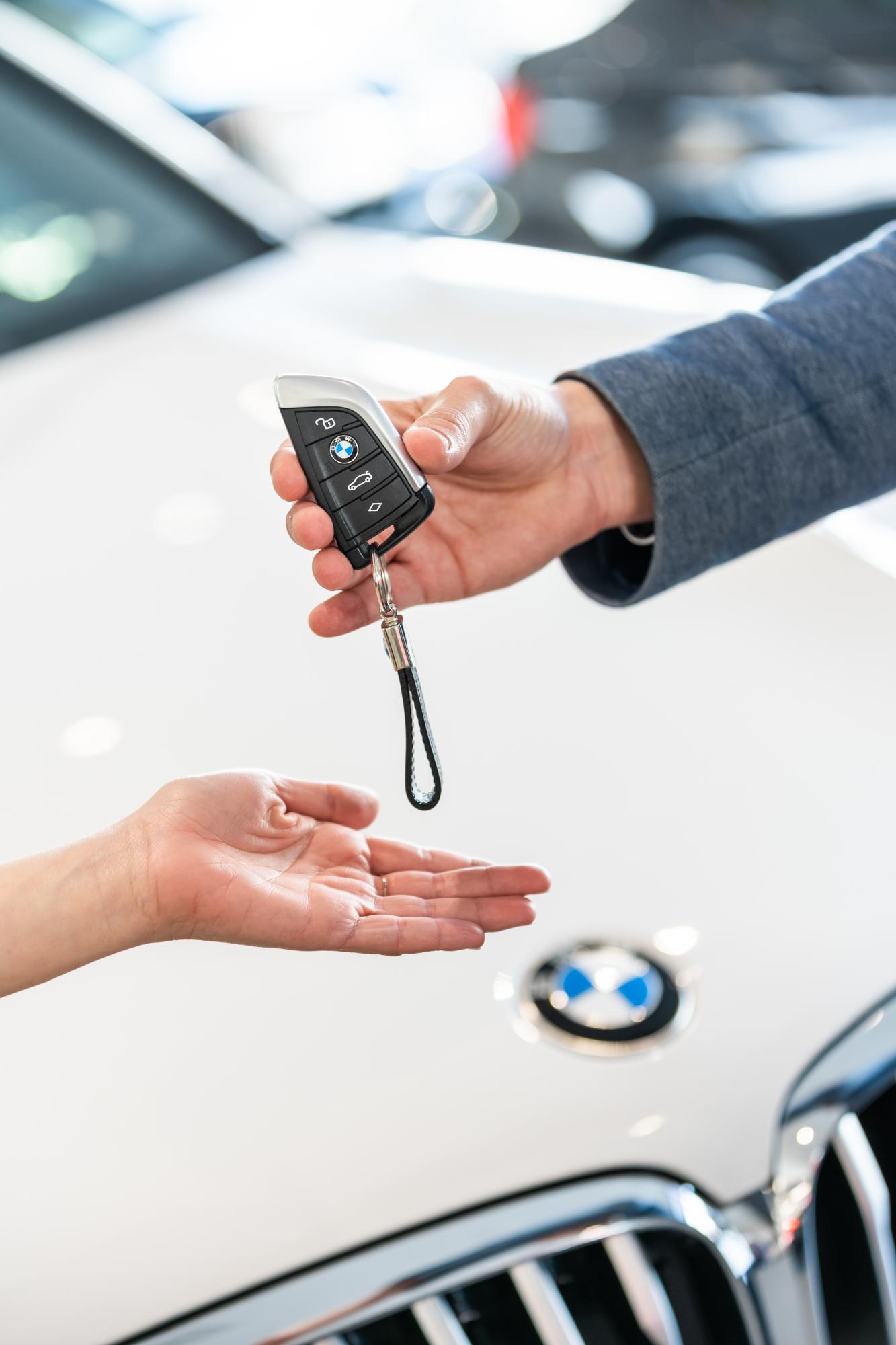 BMW client clé voiture